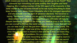 Governor Akpabio 2011 Nigeria Election Corruption and Bribery Undercover Video (Part 1)
