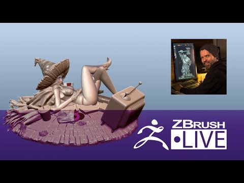 (Part 2) Jon Troy Nickel - 3D Sculpting for Figurine Production - Episode 6
