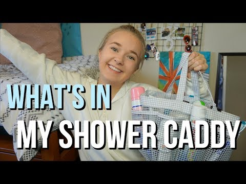 What's In My College Shower Caddy | Dorm Room Essentials