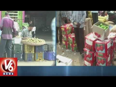 Kothapet Fruits Market | Fruit Merchants Facing Problems With Ban Of Rs 500 And Rs 1000 | V6 News