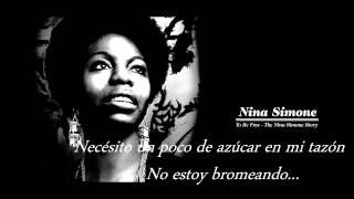 Nina Simone - I want a little sugar in my bowl - Subtitulado al español