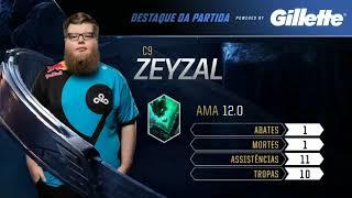 Zeyzal: Destaque da 3ª Partida - Cloud9 vs Gambit - Mundial 2018