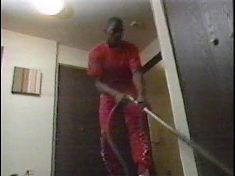 Michael Jordan vacuuming the house -  rare 80s interview