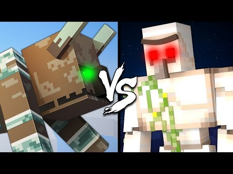Ravager vs. Iron Golem - Minecraft
