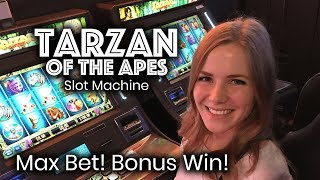 Video Tarzan Slot Machine! Bonus Win!!! Max Bet!!! download MP3, 3GP, MP4, WEBM, AVI, FLV November 2017