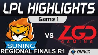 SN vs LGD Highlights Game 1 Round 1 LPL Regional Finals 2020 Suning vs LGD Gaming by Onivia