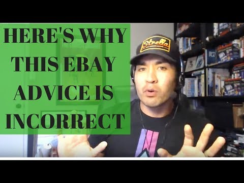 Here's Why This Popular Selling on Ebay Advice Is Incorrect