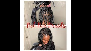 Bob Box Braids Hairstyle Tutorial