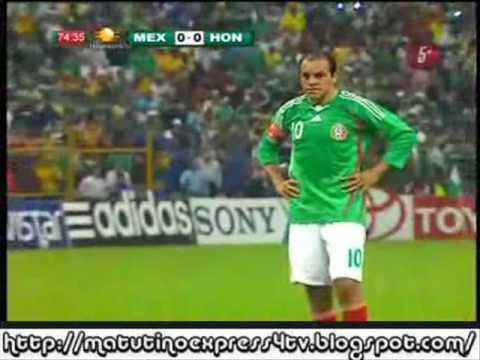 El Gol de Cuauhtemoc Blanco que nos dio el triunfo en el México vs. Honduras...