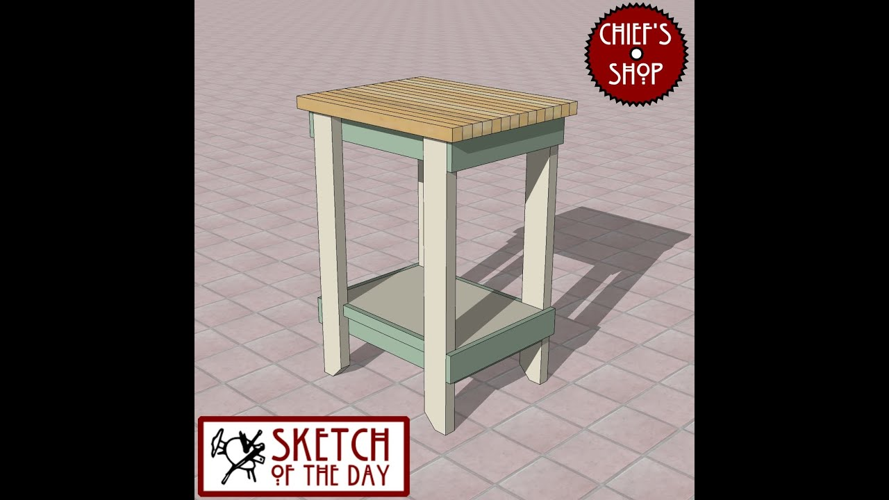 Chief's Shop Sketch of the Day: Simple Kitchen Work Table