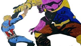 Draw it! Captain America/Nomad vs Thanos from Avengers Infinity War (Special Announcement)