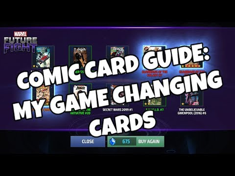Comic Card Guide: My GAME CHANGING Cards - Marvel Future Fight