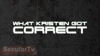 COS: What Kristen got correct