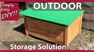 DIY Outdoor Storage Chest - KID SAFE