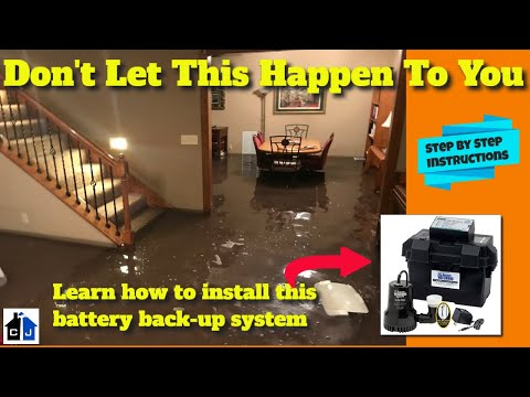 How To Install a Watchdog Battery Backup Sump Pump