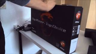 Unboxing MSI GP-60 Leopard Gaming Laptop HD