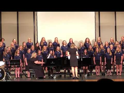 Granville Middle School girls choir Spring 2018 2