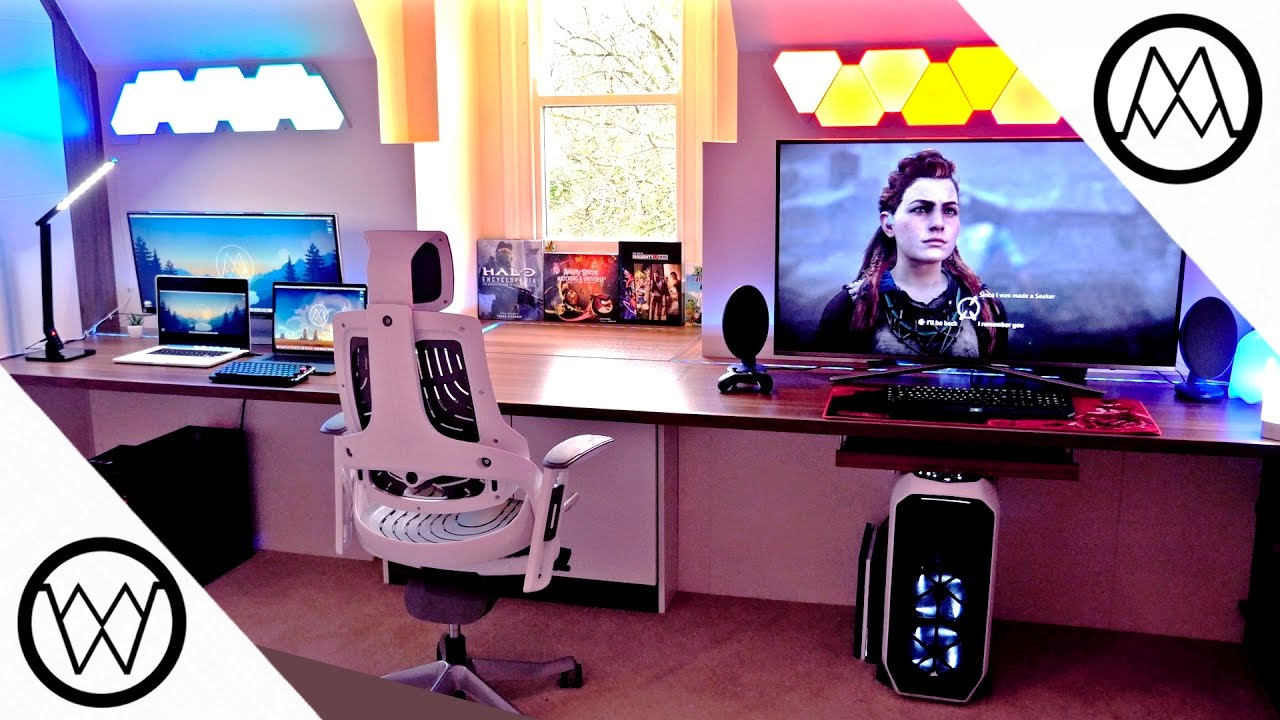 Gaming Paradise 2 0 Desk Setup Tour 2017 Youtube