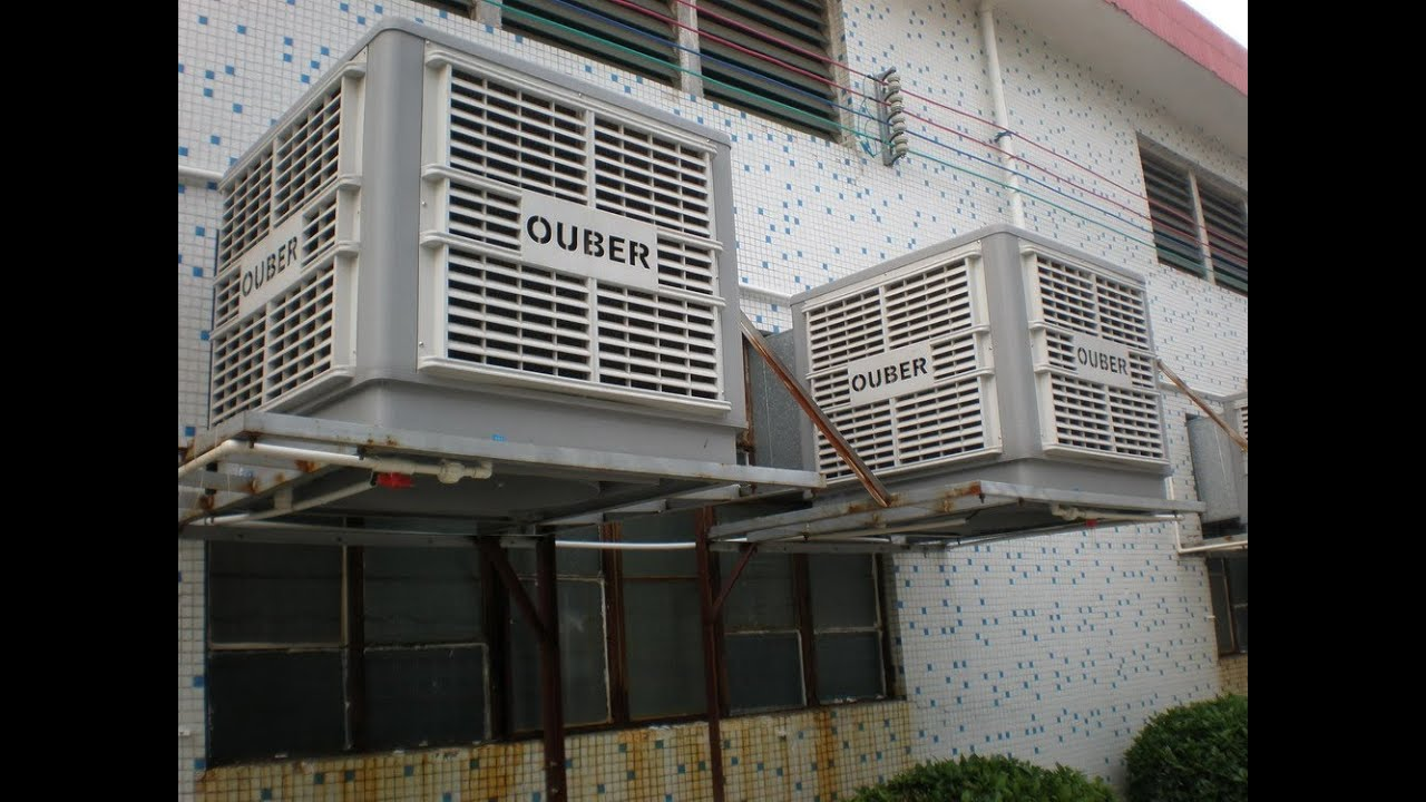 the installation of evaporative air coolers for Workshop