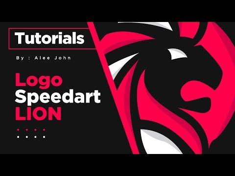 Lion Logo Speed-Art | Illustrator Tutorials | #Vectorart thumbnail