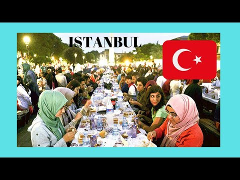 ISTANBUL: Traditional Ramadan ☪️🕌 (Iftar dinner) at Sultanahmet (Turkey)