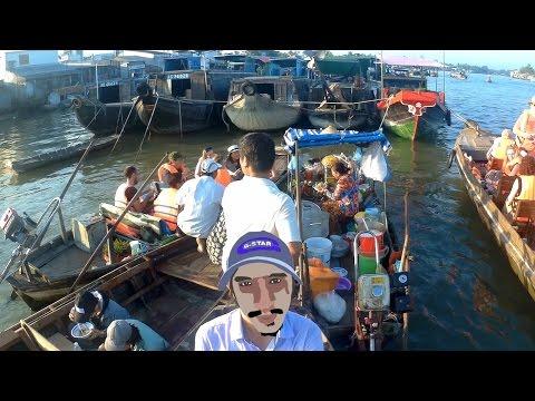 Vietnam Travel Mekong Delta Floating Market - Cho Noi Cai Rang Can Tho