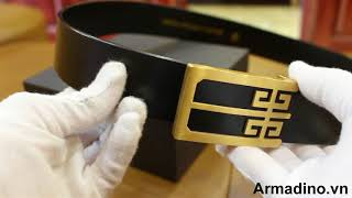 Review mẫu thắt lưng cao cấp AL041 vàng kim của Armadino