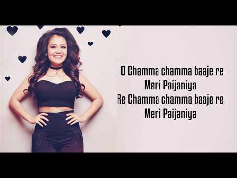 Chamma Chamma (Lyrics) :-  | Neha Kakkar | Elli AvrRam| Fraud Saiyaan