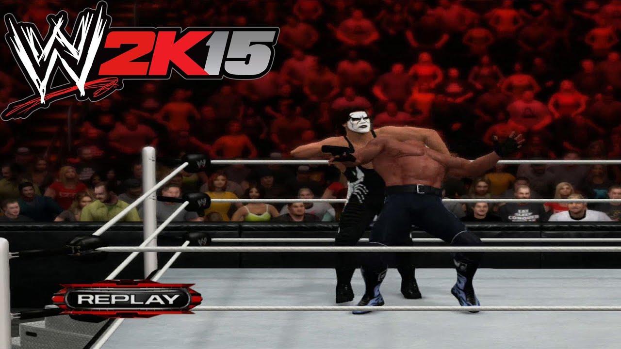 WWE 2k15 - Sting VS Hollywood Hogan Gameplay [ HD ] - YouTube