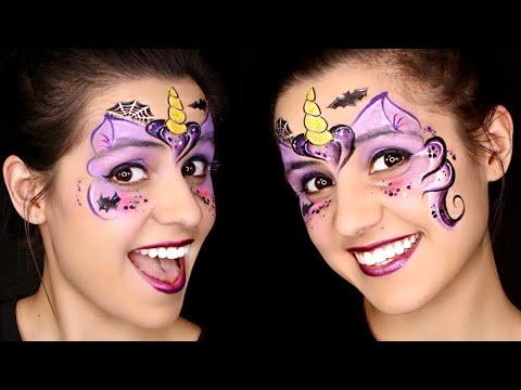 FAST Halloween Unicorn Face Paint Tutorial