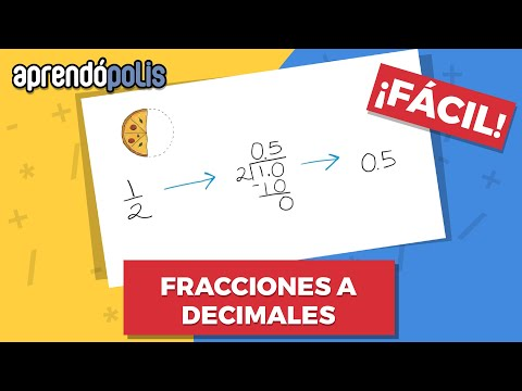 CONVERTIR FRACCIÓN A DECIMAL ¡Fácil!