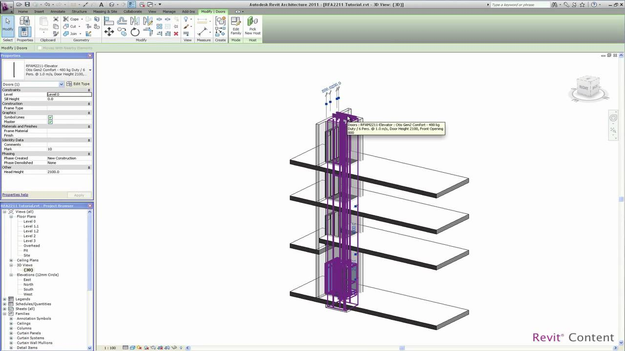Revit Content All In One Revit Elevator Family Youtube