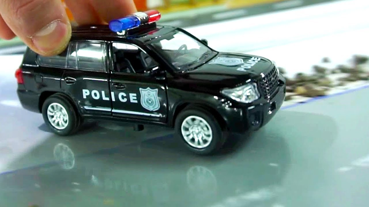 Suv Toy Car Police I Big Police Car Toy Drive Video For Kids Youtube
