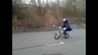 47-49cc mini pocket bike test run