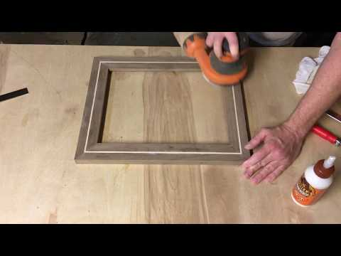 Walnut Frame Build with Maple inlay and splines - YouTube