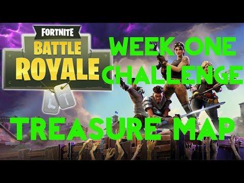 Fortnite Battle Royale | Season 4 Week 1 Challenge | Tomato Town Treasure Map Guide