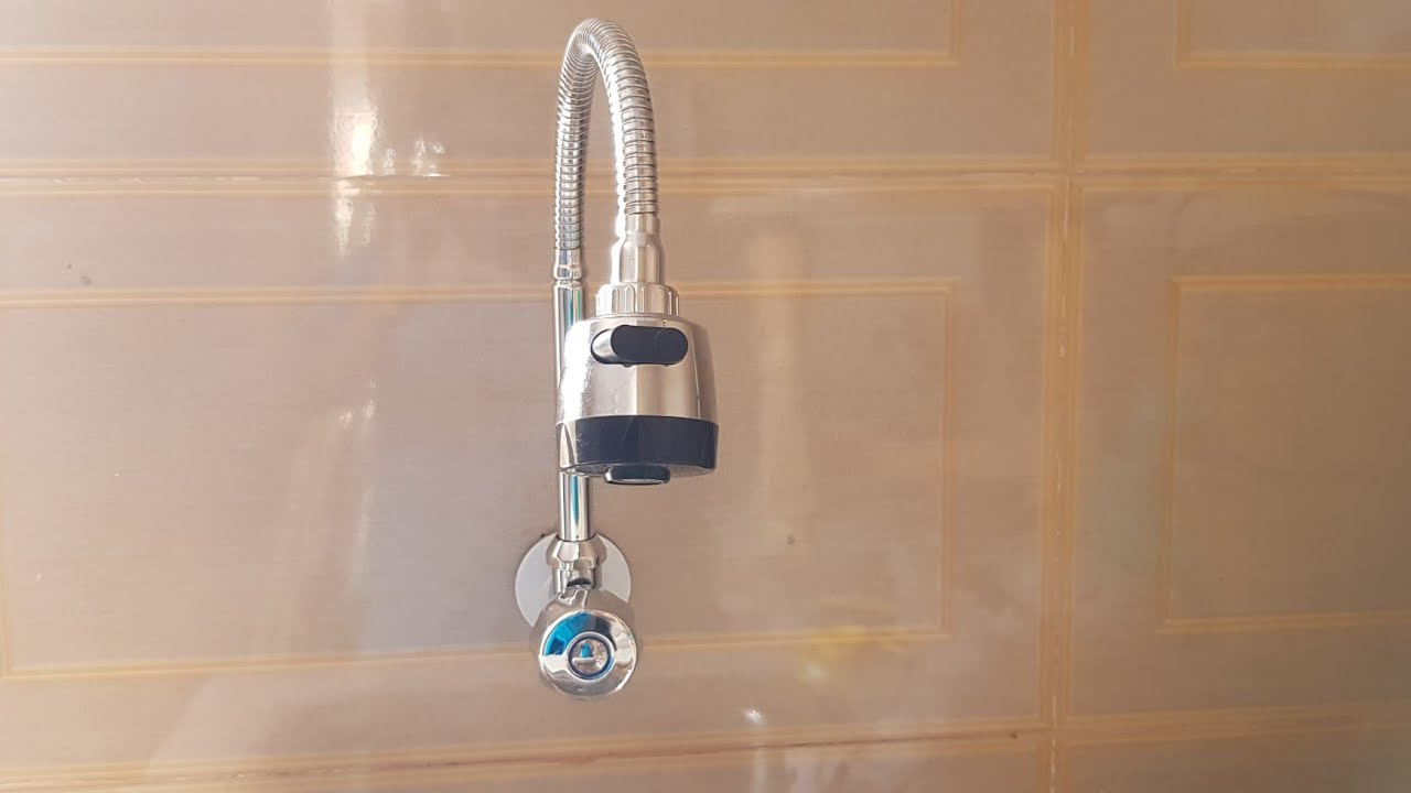 A single new water Tap & weast& magic pipe installed on the kitchen