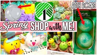 NEW! DOLLAR TREE SHOP WITH ME! 🌷  SPRING DECOR 2018 DON