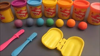 Gambar cover Rainbow Popsicle and Chocolate Popsicle playdough playset - Picolés de massinha de modelar Estrela