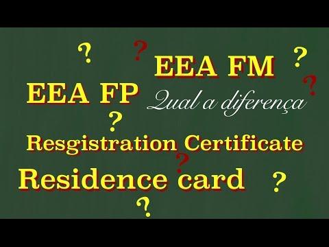Registration Certificate EEA-QP e vistos para NON EEA.
