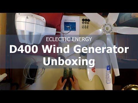 Eclectic Energy D400 Wind Generator Unboxing