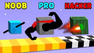 NOOB vs PRO vs HACKER 😎⚡ MIKECRACK en DRAW CLIMBER #1 [Con ANIMOJIS]