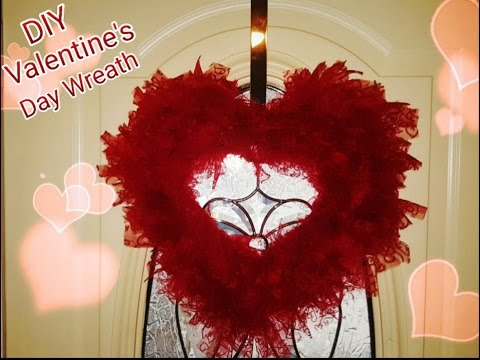 Dollar Diy Valentine Tulle Wreath Easy Tutorial Under 8