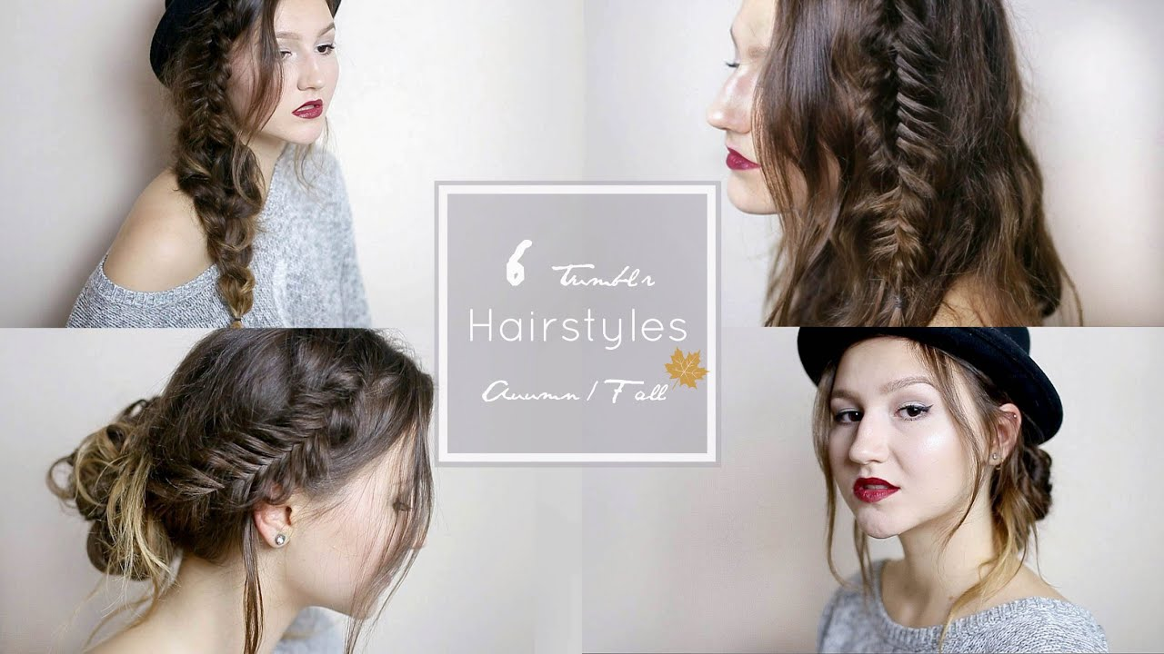 6 quick easy tumblr hairstyles youtube