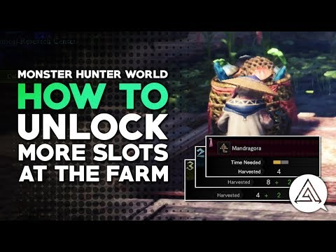 Monster Hunter World | How to Unlock More Slots at the Farm (Botanical Research Center)