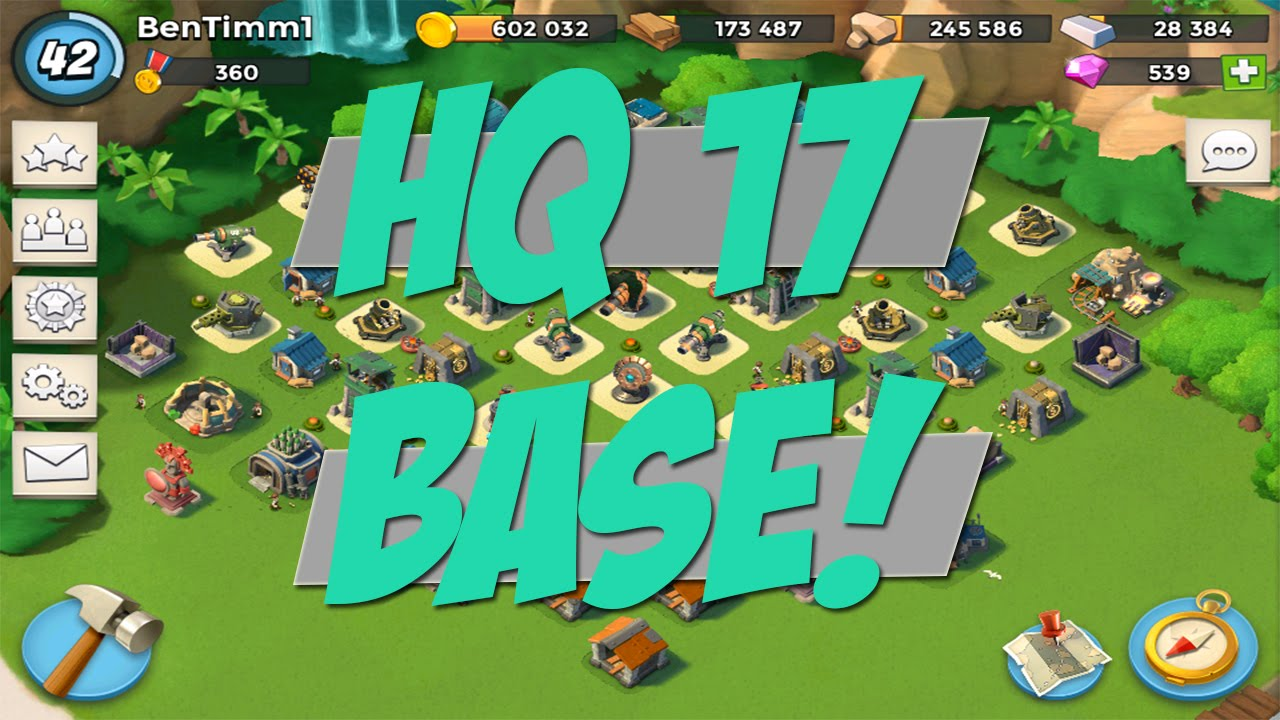 boom beach - hq 17 base layout | shock launcher too strong! - youtube