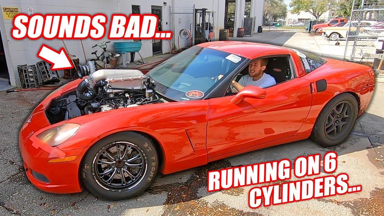 Assessing Damage to the Auction Corvette's THIRD Junkyard Truck Engine!