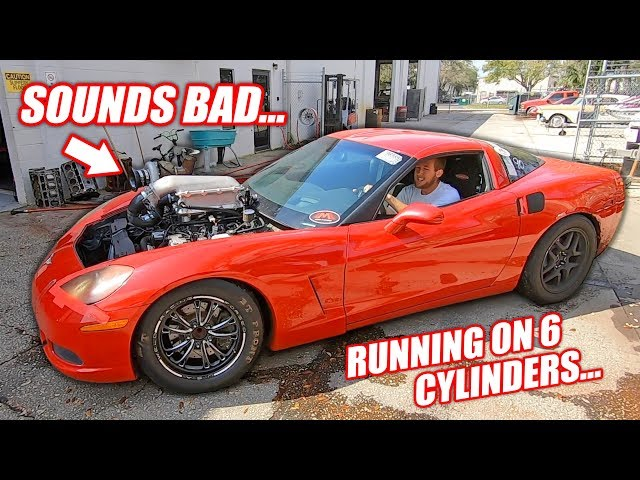 Assessing Damage to the Auction Corvette's THIRD Junkyard Truck Engine!