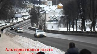Кортеж патриарха Кирилла в Сергиевом Посаде