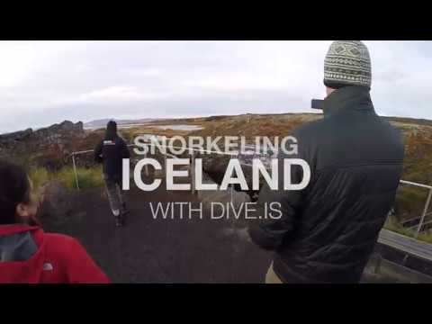 Snorkeling between two continents in Iceland